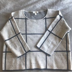 Eileen Fisher Wool/Organic Cotton Cropped sweater
